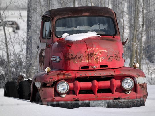 A Coca Cola truck by Nanci Smith.