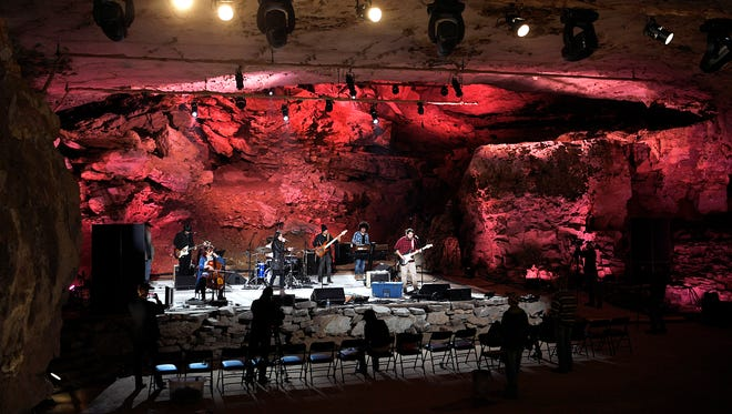 Cuban band the Sweet Lizzy Project rehearses at The Caverns, the new home of the Bluegrass Underground, on Thursday, March 22, 2018.  The cave concert venue is at the base of Monteagle Mountain in Pelham, Tenn.