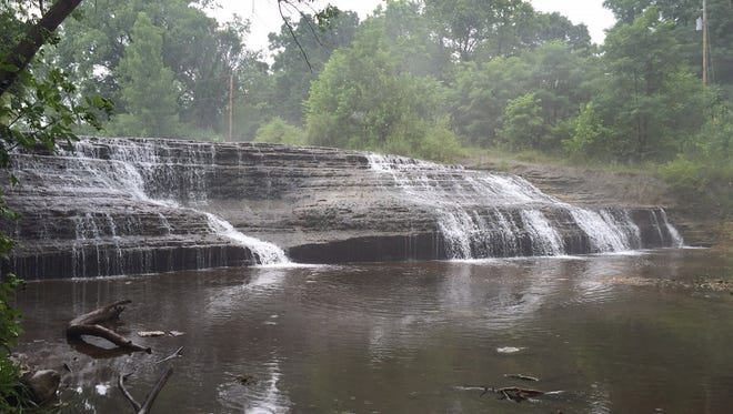 Richmond's Thistlethwaite Falls is one of 20 contenders in the Indiana's Best Waterfalls competition organized by the Indiana Office of Tourism.