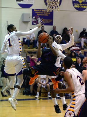 Southwood junior Jaylon Payne, shown here going up for a shot against Byrd, will be a senior for the young Cowboys next season.
