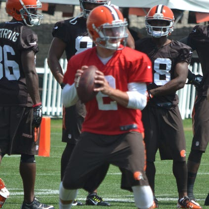 "Browns receiver Nate Burleson believes Johnny Manziel (pictured) is the ""best No. 2 QB in the NFL."""