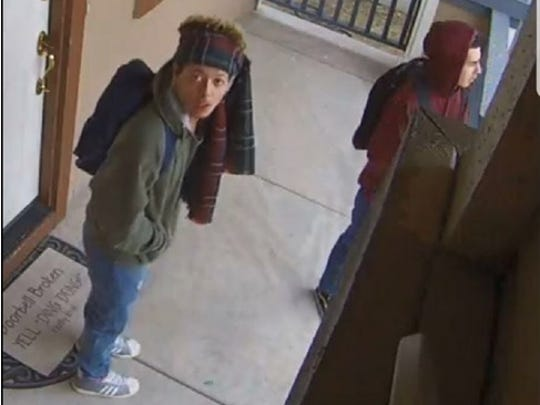 Reno police released photos of the suspects involved in a series of residential burglaries reported in the Damonte Ranch area on Dec. 20, 2017.
