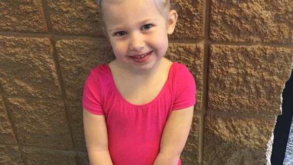 Charlotte at her first gymnastics class. Photo: Ginger Rough