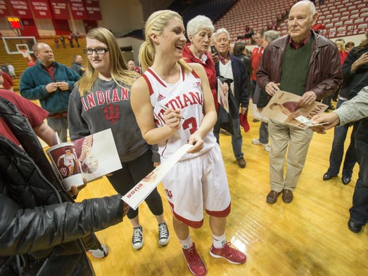 Tyra Buss, a standout freshman for Indiana University,