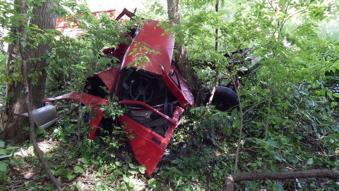 Jeremy Holmes-Bear, 18, of Lafayette walked away from the mangled wreckage of the 1991 Chevrolet S-10 pickup truck he was driving about 4 p.m. Saturday, May 23, when he allegedly fell asleep and wrecked into several trees near Old Indiana 25 and County Road 650 North.