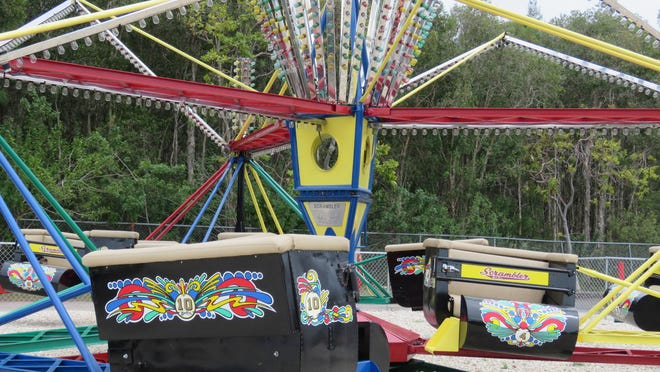 The Scrambler was built in 1955 by the Eli Bridge Company and was completely refurbished by Mike Greenwells Family Fun Park.