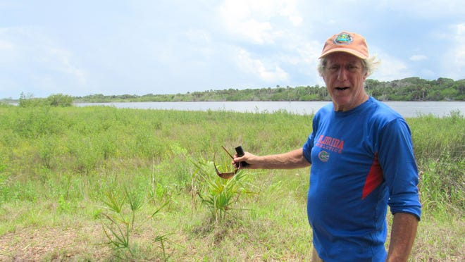 Environmental guru and president of the Friends of Gamble Rogers State Park, Paul Haydt explains the benefits of the marsh restoration projects along the Intracoastal Waterway. One of the first was at North Peninsula State Park, using historic maps from the 1880s.