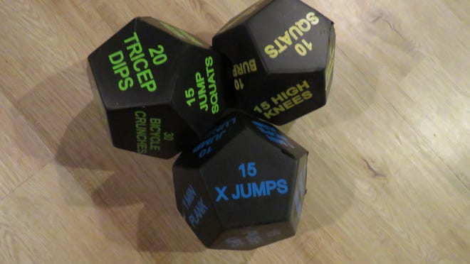 You can roll the dice to choose a workout with these fitness dice.