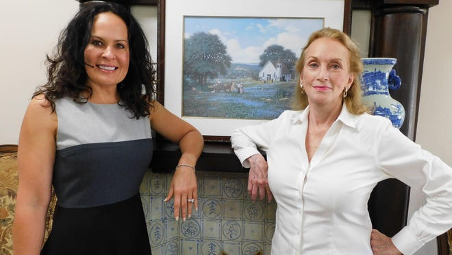 Cara Castellow, left, and Harriett Adams. Adams, the third owner of the Raphael House, has sold it to Castellow.