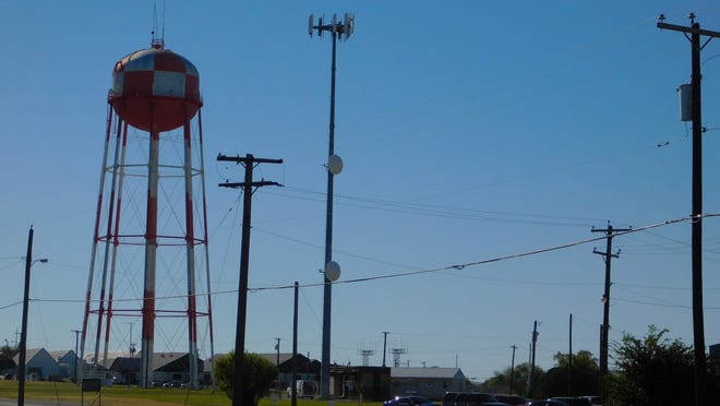 The city of Denison has approved $205,000 for design and survey work on a  new water tower project that will replace the existing tower at North Texas Regional Airport. [Michael Hutchins / Herald Democrat}