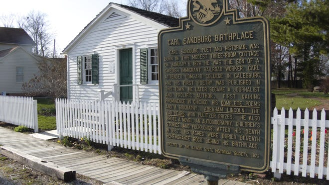 Pictured here is the Carl Sandburg State Historic Site at 313 E. 3rd St. in Galesburg.
