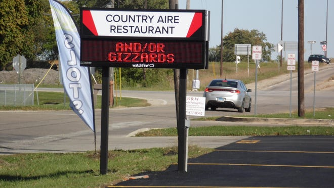 The new parking lot and digital sign are great improvements for the Country Aire Restaurant - designed to help this important member of the Atlanta business community.