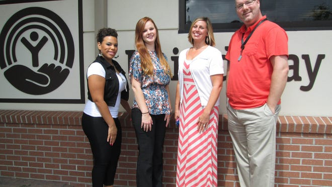 From left are Crystal Rodriguez, Allison Chandler, Stephanie Harrison and Bryce Aaron with the United Way.