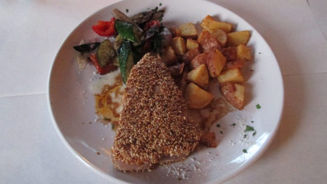 Pan-seared sesame crusted Ahi tuna was among the offerings during a recent visit to al corso in Collins.