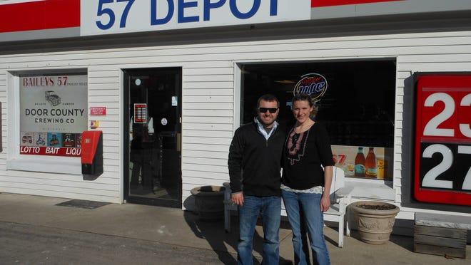 Eric Williams and Kari Baumann, managing partners of the Baileys 57 in Baileys Harbor.