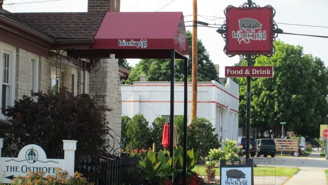 The Black Pig restaurant in Elkhart Lake is housed inside a historic home that was converted into a restaurant in the 1930s.