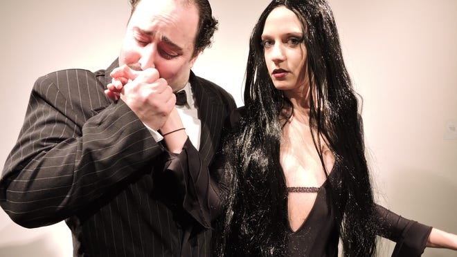 """John Anthony Lopez is Gomez to Jennifer Silverman's Morticia in """"The Addams Family."""""""