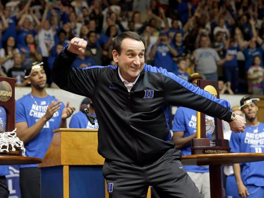 FILE - In this April, 2015, file photo, Duke coach