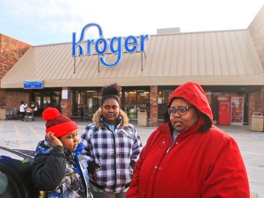 Chalee Lightsy and her children Edward and Adia Elam shop at The Kroger on Second Street in Old Louisville at least once a week. The store will be closing Jan. 28 at 6 p.m. after the company said the landlord of the building refused to renew the grocery store's lease at the property. But the owner of the building said Kroger refused to sign a five-year lease. At 26,410 square feet, the Old Louisville Kroger is dwarfed by the grocery chain's newer, larger stores.