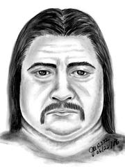 A composite sketch of a possible suspect in the Joshua Aguilera murder case, who was found shot to death at a Mesa hotel on June 26, 2016.