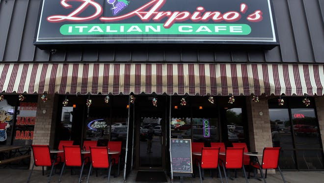 D'Arpino's Italian Cafe, photographed May 16, 2016, will close after Dec. 31, 2017. It may return under new ownership in 2018.