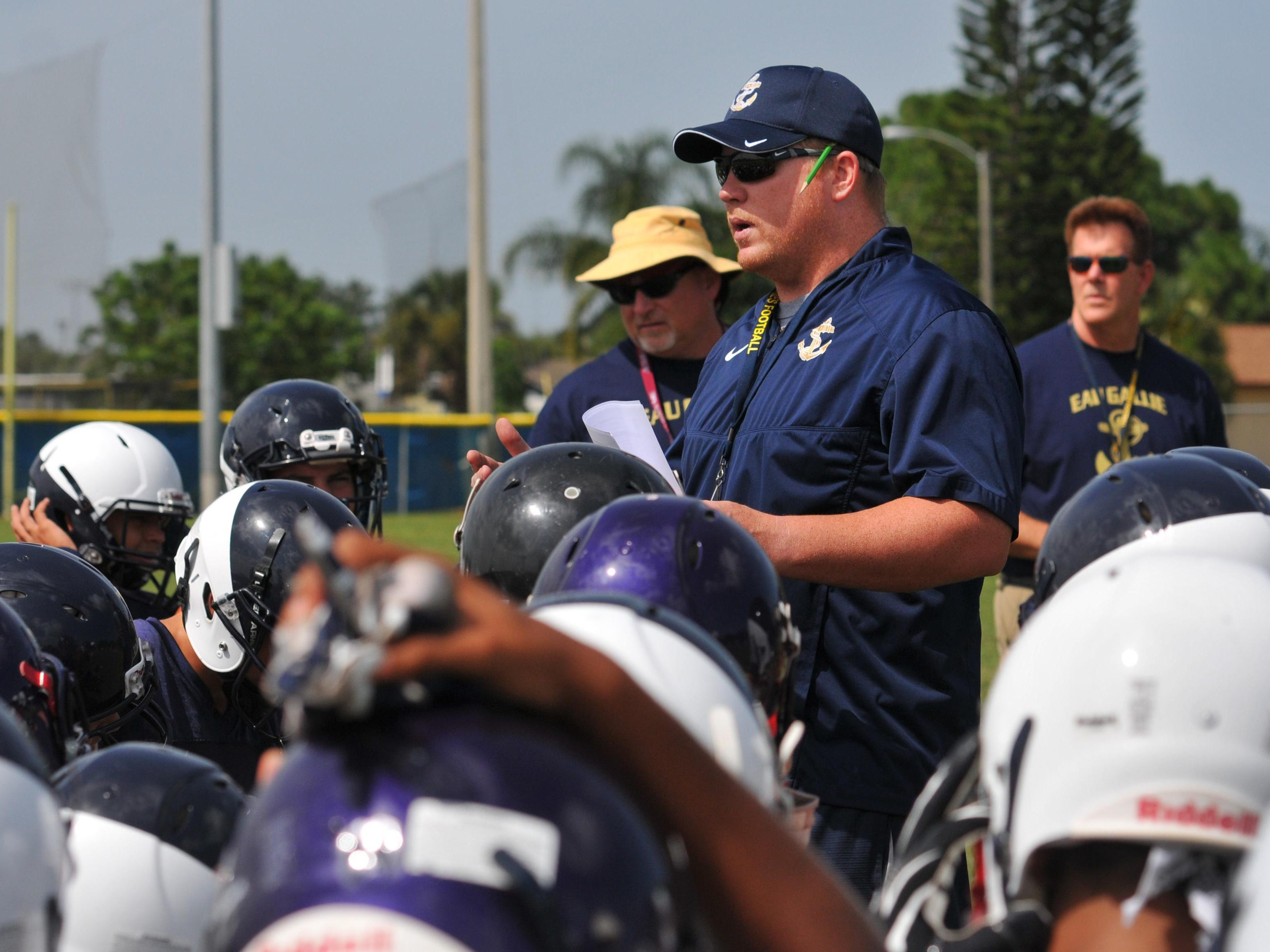 Eau Gallie High head coach Tim Powers led his team to victory Friday night.