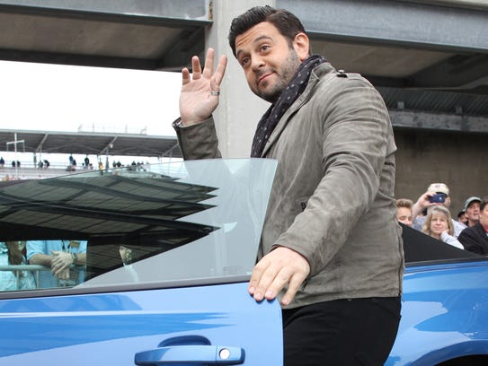 Man vs Food host Adam Richman attends the celebrity red carpet event before the 97th running of the Indianapolis 500 at Indianapolis Motor Speedway Sunday May 26, 2013.   Chris Bergin/ for The Star
