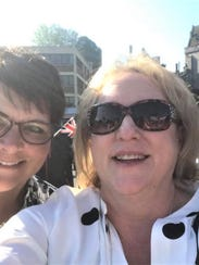 Dianne Radcliffe and Tori Wilson in front of Windsor