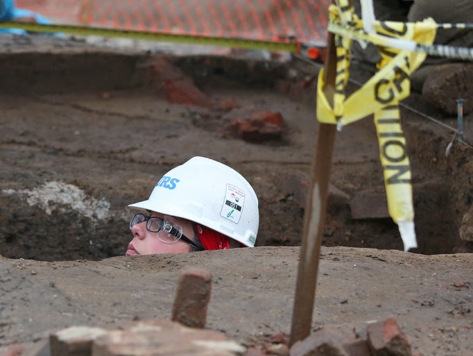 Digging for artifacts at IndyGo construction site: http://www.indystar.com/picture-gallery/news/2015/06/29/digging-for-artifacts-at-indygo-construction-site/29457715/