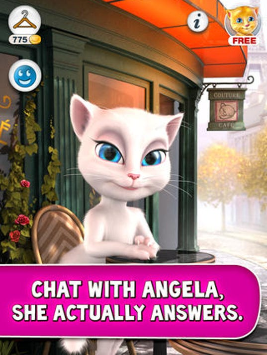 Talking Angela Asking Personal Information