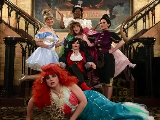 """The local cast of """"Disenchanted"""" at the Elsinore Theatre."""