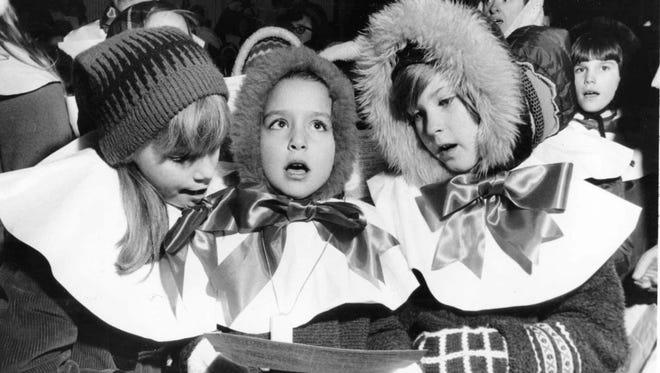 1968: Sharon Splihte, Ann Marie Manzi, and Linda Nelson of Troop 304 Brownies Fair Lawn.