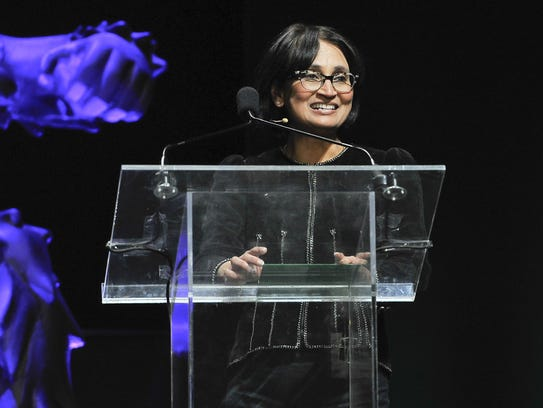 Padmasree Warrior, shown here at the recent TechCrunch