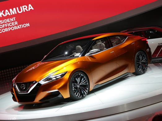 Nissan unveiled the Nissan Sport Sedan Concept Vehicle to the media during the 2014 North American International Auto Show held at Cobo Center in downtown Detroit on Monday, Jan. 13, 2014. Romain Blanquart/ Detroit Free Press [Via MerlinFTP Drop]