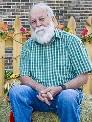 Bob Gore during a 2010 visit to a pumpkin patch with