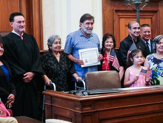 naturalization ceremony Wednesday, June 7, 2017