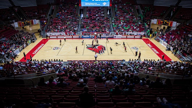 Wapahani's faces off against Covenant during their state final at Worthen Arena Saturday, Nov. 5, 2016.