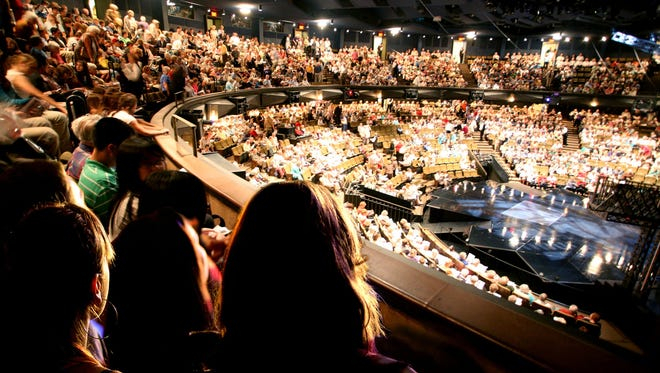 """The 1,826-seat Festival Theatre is the largest of the Stratford Festival's four theaters. This year's productions of """"Tartuffe"""" and 2017 blockbuster """"Guys and Dolls"""" are being staged there."""