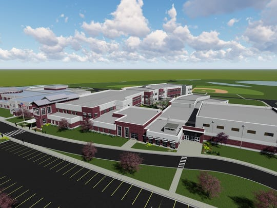 View from above of the 2,400-linear foot front of the proposed plans for Rudolph Gordon expansion into a K-8 school.