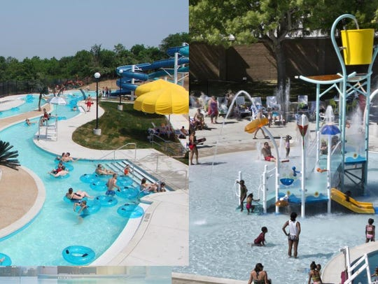 A lazy river and a children's play area are among the