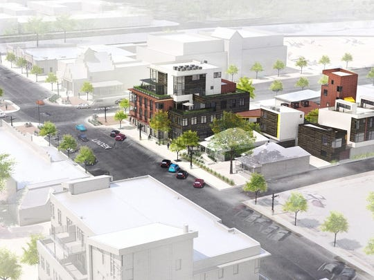 Confluence, a five-story, mixed-use project at the corner of Linden and Willow streets, will bring 47 apartments and office and retail space to Fort Collins' Poudre River District.