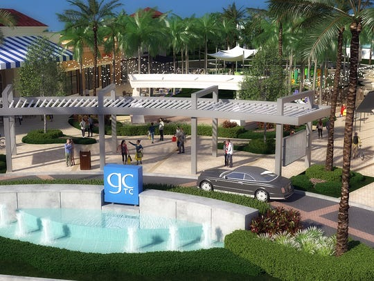 A rendering of what Gulf Coast Town Center will look like after renovations in 2018. WGI, a renowned landscape architecture firm headquartered in South Florida, will help the center transform to be more family-friendly and include modern and provocative features.