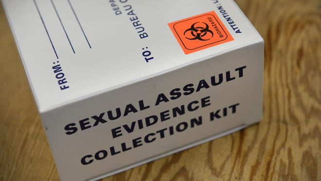 A photo of a sexual assault evidence collection kit box.