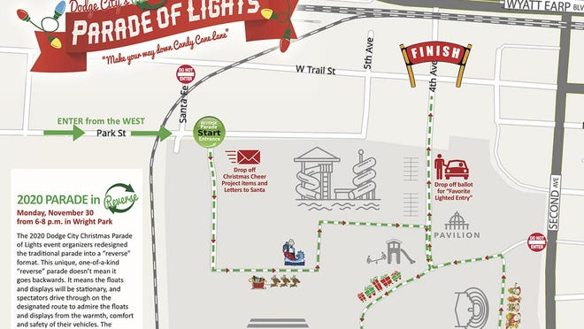 This year, people will drive through the Parade of Lights parade route in Wright Park from 6 to 8 p.m. Monday, Nov. 30.