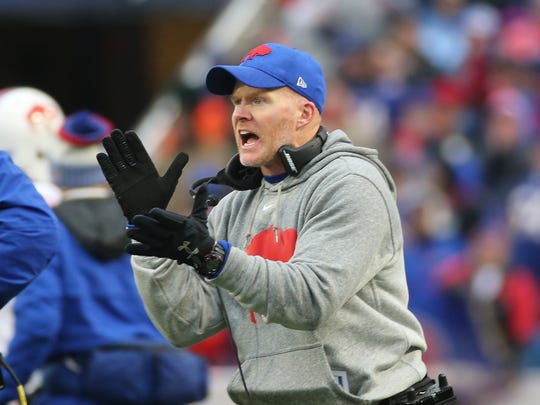 Bills head coach Sean McDermott  in a 34-14 win over Oakland.