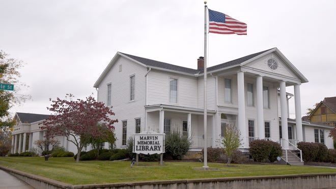 The Marvin Memorial Library on Whitney Avenue in Shelby is on the National Register of Historic Places.