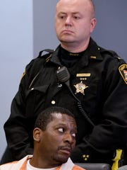 Marcelluis Luckie listens as victims make their statements Wednesday afternoon.