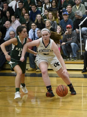 Sophie Downey and No. 18 NV/Old Tappan defeated second-seeded Pascack Valley, 43-41, Saturday in the second round of the Bergen County tournament.