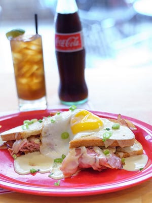 Holly's Gourmets Market has added the Croque Madame to the menu served here with a Cuba Libre.