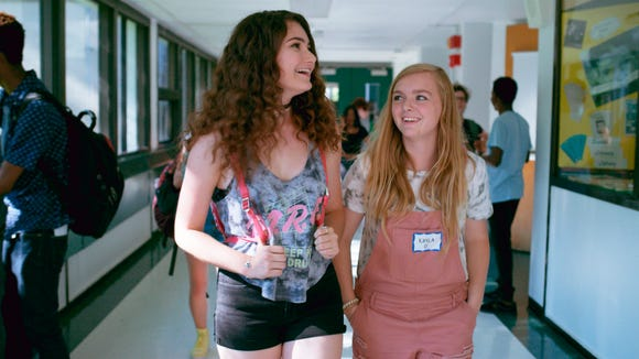 Elsie Fisher, right, with co-star and offscreen friend